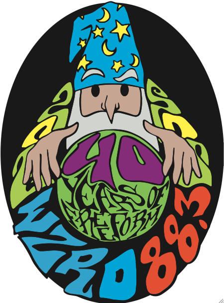 WZRD 40th Anniversary Logo