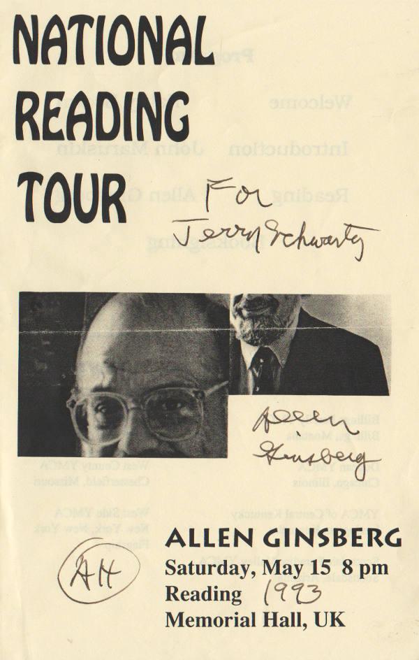 Allen Ginsberg Autograph