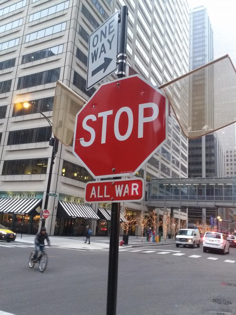 Peace Stop Sign