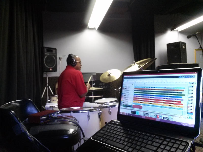 Recording Robert Porche on Drums