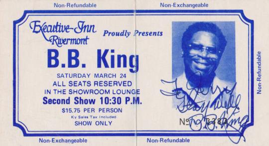 BB King Autograph