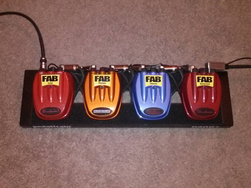 Fab Four Pedal Board
