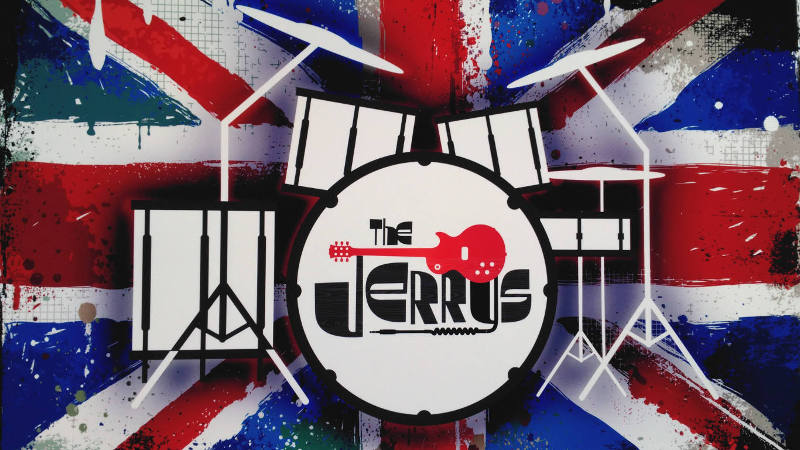 The Jerrys drums logo by ScottyRocks